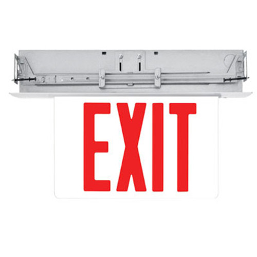 Recessed LED Lit Edge Exit Sign