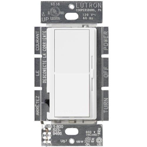 150W Diva C·L Single Pole 3Way Digital Dimmer Light Switch DVCL-153P-WH