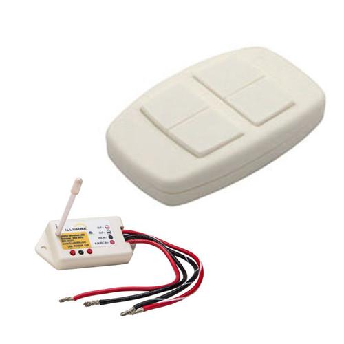 Wireless LED Dimmer + Remote Dual Rocker Switch Combo - ILLUMRA