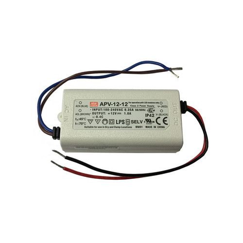 12V 12w Single Output DC Driver - APV-12 - Meanwell