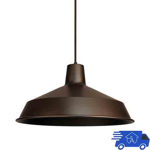 "12V / 120V Indoor Hanging Barn Pendant - Vintage Barn Light - 16"" - AQ-PL925"