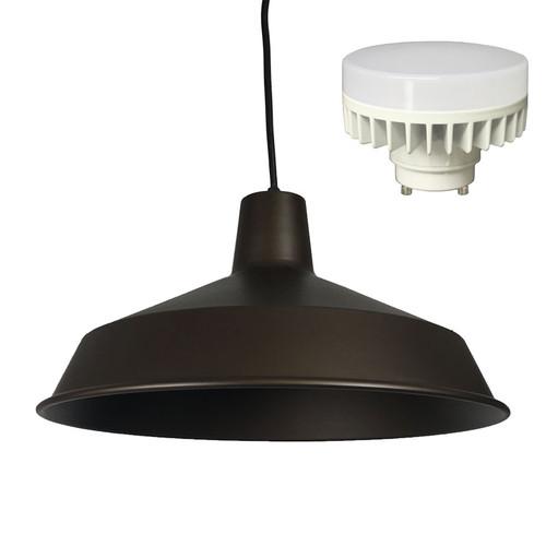 AQLIGHTING  sc 1 st  AQLighting & Indoor Metal Barn Shade LED Pendant Light   AQLighting