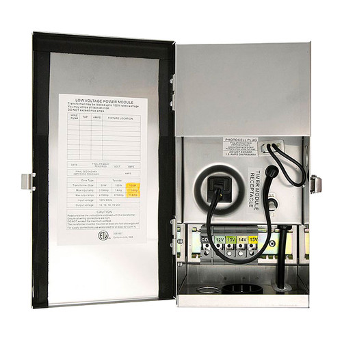 50w Multi-Tap Low Voltage Stainless Steel Transformer PTX1550