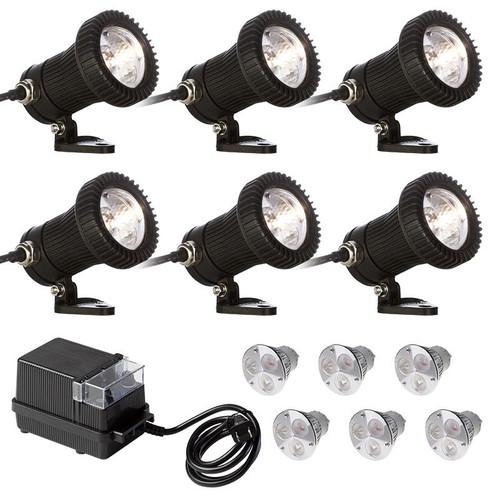 12V 6 Light LED Composite Underwater Spotlight Kit - LED002