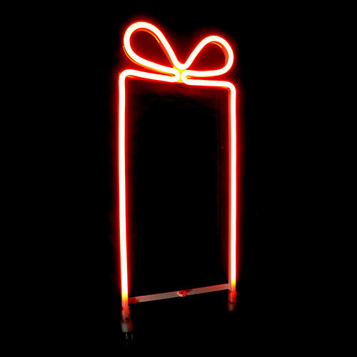 Christmas Neon Present - 24V LED Gift Box Present Neon Rope Light Motif