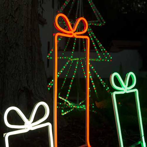 Christmas led gift box neon flex rope light motif aqlighting christmas neon present 24v led gift box present neon rope light motif aloadofball Choice Image