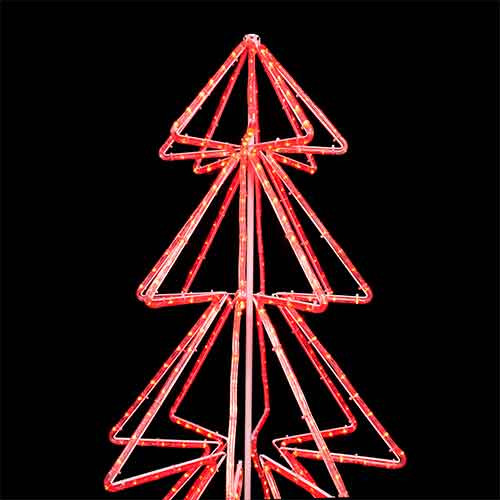 Led red green rope light christmas tree motif aqlighting led rope light christmas tree 3d motif 120v 3 wire red green bi aloadofball Choice Image