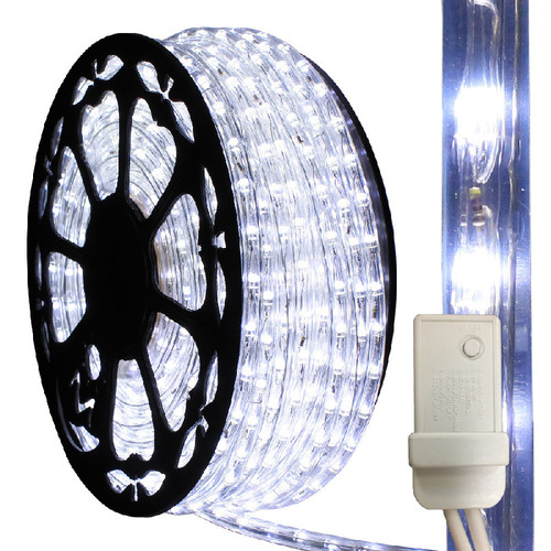 Cool white led chasing rope light aqlighting aqlighting 120v 3 wire cool white led chasing type 513 rope light mozeypictures