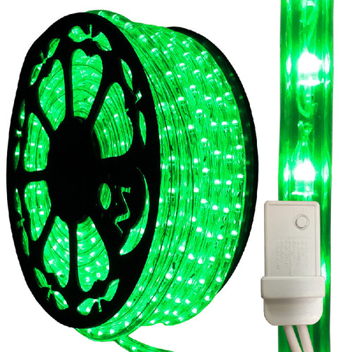 120V IP65 Waterproof 3 Wire Green LED Chasing Type 513 Rope Light - 150ft