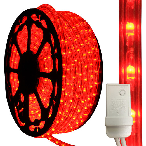 120V IP65 Waterproof 3 Wire Red LED Chasing Type 513 Rope Light - 150ft