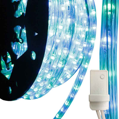 120V 3 Wire Blue & Green Bi-Color LED Chasing Type 513 Rope Light - 150ft - 513PRO Series