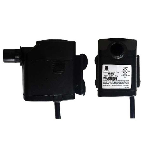 120V Plug In Adjustable Flow Submersible Fountain Pump - 275 GPH