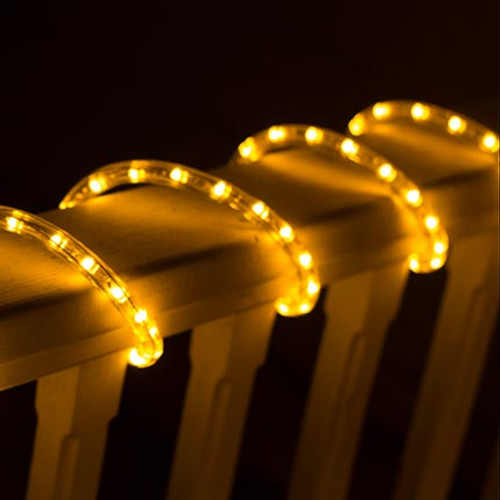 Custom length amber led rope light aqlighting product view 120v custom length amber led type 513 rope light 513pro series custom cut aloadofball Image collections