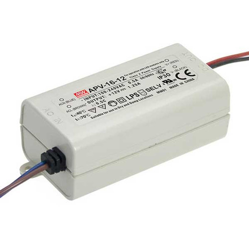 12V 16w Single Output DC Driver - APV-16 - Meanwell