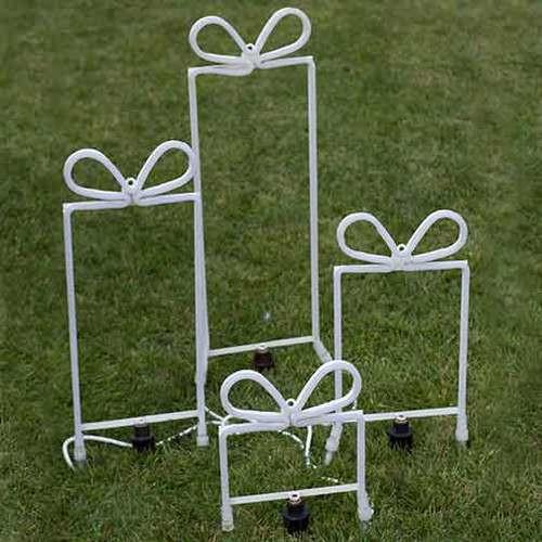 4 Gift Box Set - LED Neon Flex Gift Boxes Motifs