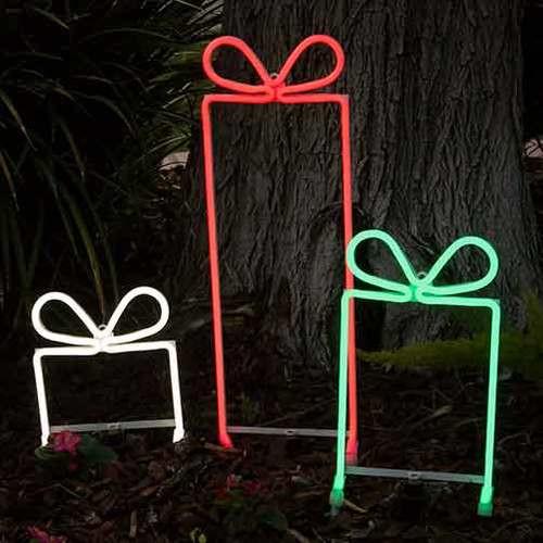 3 Gift Box Set - LED Neon Flex Gift Boxes Motifs