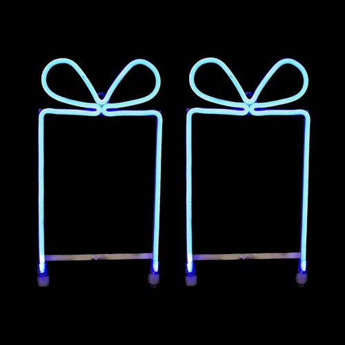 Medium Gift Box Pair - LED Neon Flex Gift Box Motif