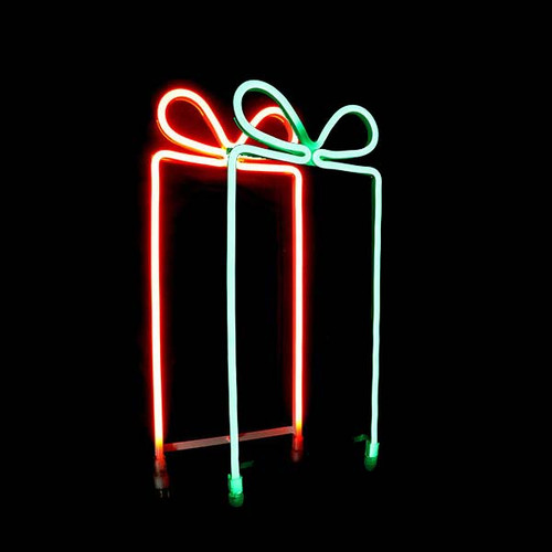 Large Gift Box Pair - LED Neon Flex Gift Box Motif