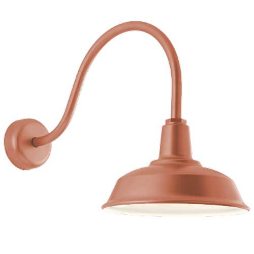 120V Painted Natural Copper Vintage Style Gooseneck Barn Light - TroyRLM