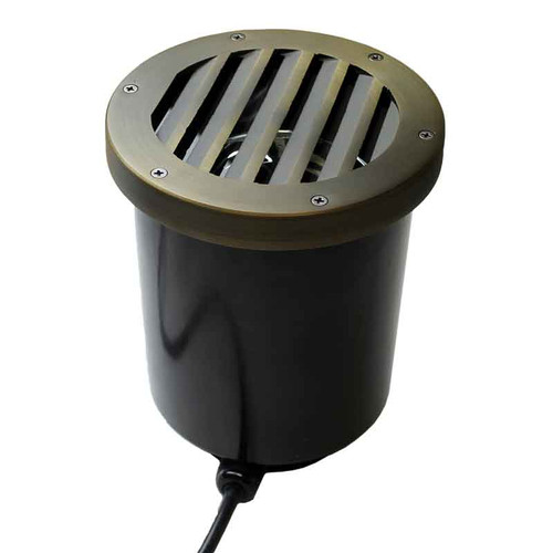 120v LED Composite In Ground Landscape Well Light w/ Louvered Grill Cover - LEGAU999