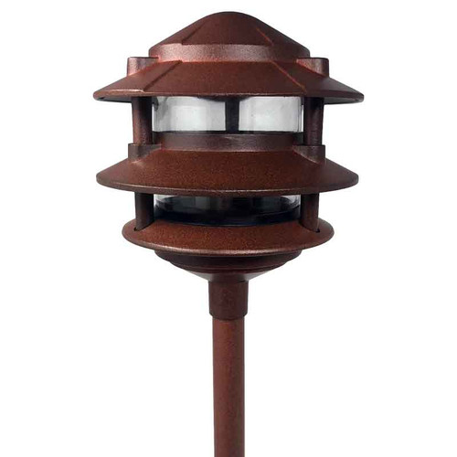12V / 120V Cast Aluminum 3-Tier Pagoda Area Light w/ Modular Stem System - AQPA3S
