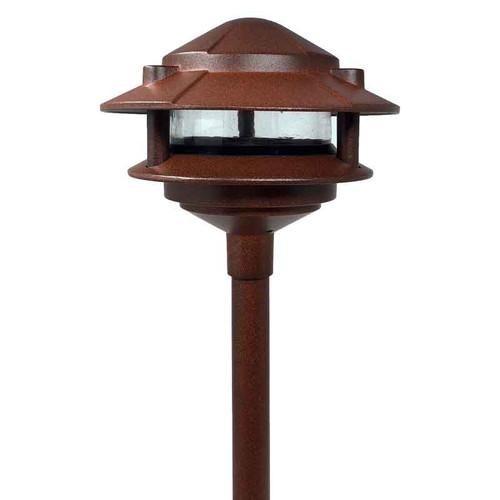 12V / 120V LED Cast Aluminum 2-Tier Pagoda Area Light w/ Modular Stem System - LED-AQPA2S