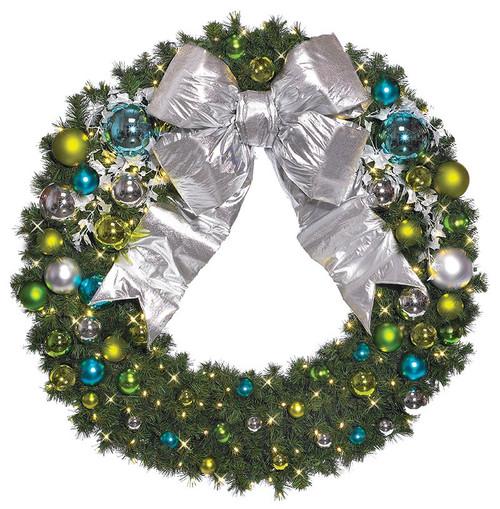 Pre-Lit Signature Coastal Collection LED Christmas Wreath