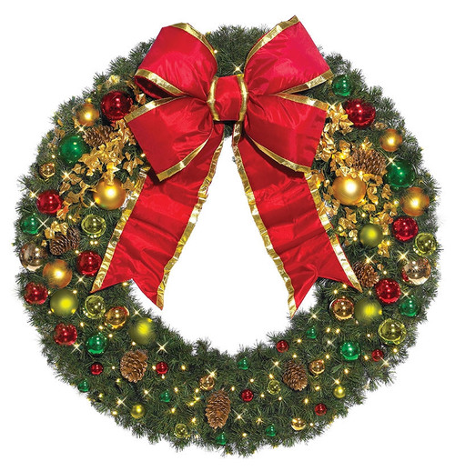 Pre-Lit Signature Classic Collection LED Christmas Wreath