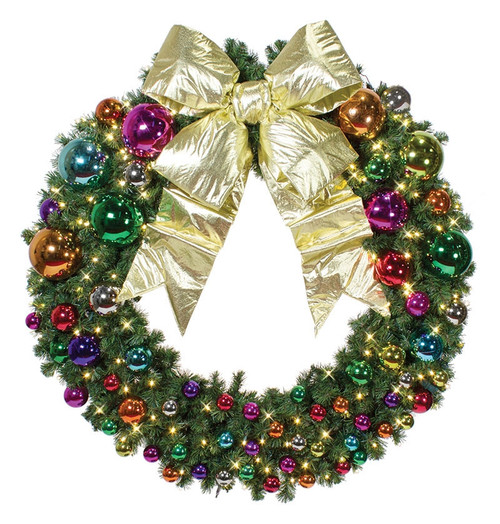 Pre-Lit Signature Jewel Tone Collection LED Christmas Wreath