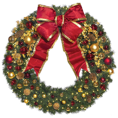 Pre-Lit Signature Traditional Collection LED Christmas Wreath