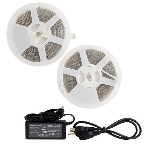 Outdoor Led Light Tape: 32ft Low Voltage LED Tape Light Kit