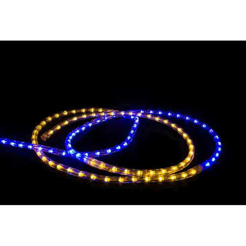 Blue yellow gameday led rope light aqlighting 120v led type 513 gameday rope light package blue yellow mozeypictures Gallery