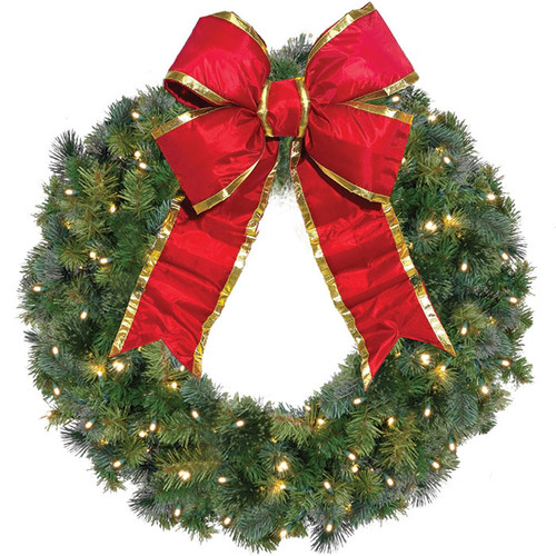 "36"" Classic Style LED Christmas Wreath w/ Bow 