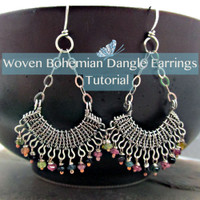 Woven Bohemian Dangle Earrings Tutorial