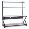 """72"""" Performance 200 Series LAN Station with 28 D Lower Shelf - Folkstone"""