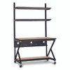 "48"" Performance 100 Series LAN Station with 14"" D Lower Shelf - Carmel"