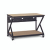 """48"""" 300 Series LAN Station / Workbench with 28"""" D Lower Shelf – Maple"""