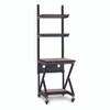 """24"""" Performance 100 Series LAN Station with 14"""" D Lower Shelf - Cherry"""