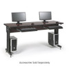 "Training Table / Classroom Desk 72"" W x 24"" D - African Mahogany"