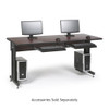 "Training Table / Classroom Desk 72"" W x 30"" D - African Mahogany"