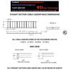 "Cable Ladder Rack, 1.5"" Tube Rail"