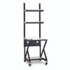 """24"""" Performance 100 Series LAN Station with 14 D Lower Shelf - Folkstone"""