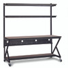 """72"""" Performance 100 Series LAN Station with 14"""" D Lower Shelf - Cherry"""