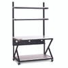 "48"" Performance 200 Series LAN Station with 28 D Lower Shelf - Folkstone"