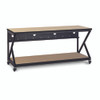 "72"" 300 Series LAN Station / Workbench with 28"" D Lower Shelf – Maple"