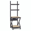 """24"""" Performance 200 Series LAN Station with 28"""" D Lower Shelf - Maple"""