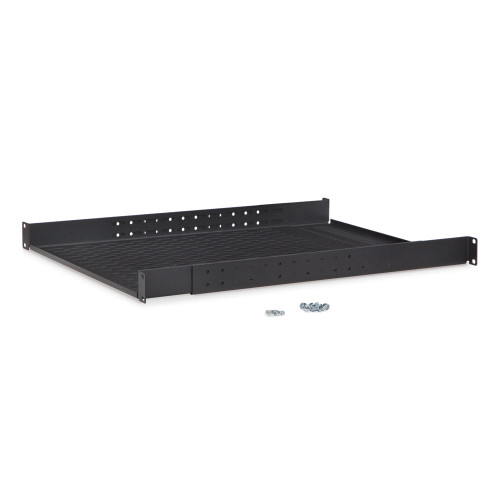 """1U Vented 4-Point Adjustable Shelf, From 22"""" to 36"""" Deep"""