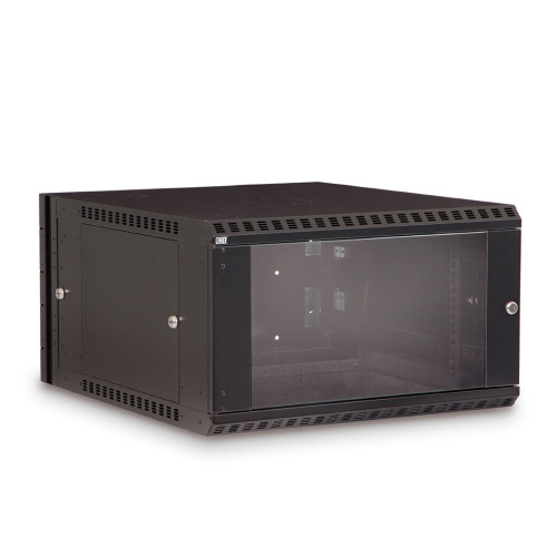 6U LINIER Swing-Out Wall Mount Cabinet With Glass Door