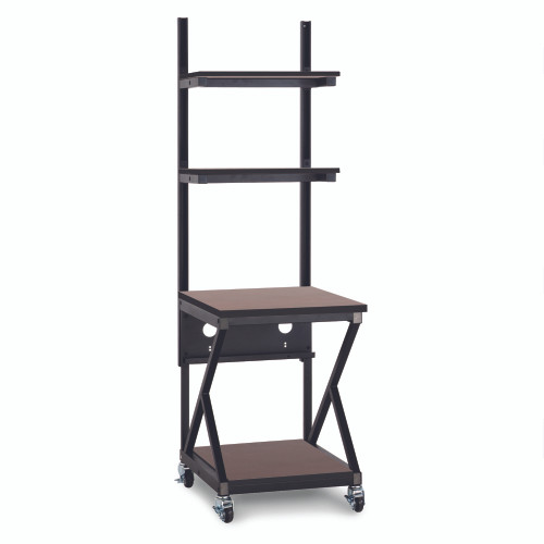 """24"""" Performance 200 Series LAN Station with 28"""" D Lower Shelf - Cherry"""