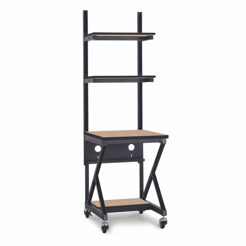 "24"" Performance 100 Series LAN Station with 14"" D Lower Shelf - Carmel"